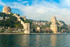 Rumeli Festung, Istanbul, die Türkei. Stockfotos