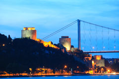 Rumeli Fortress and Fatih Bridge Royalty Free Stock Photos