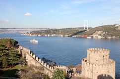 Rumeli Fortress and FSM Bridge Royalty Free Stock Image