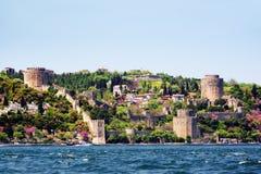 Rumeli Fortress, Istanbul. Rumelihisari. Rumeli Fortress in Spring in Turkey Stock Photo