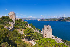 Rumeli Fortress at Istanbul Turkey Stock Photos
