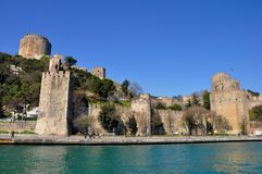 Rumeli Fortress royalty free stock images