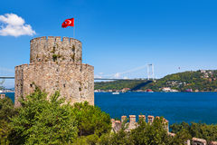 Rumeli Fortress at Istanbul Turkey Royalty Free Stock Photo