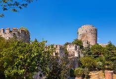 Rumeli Fortress at Istanbul Turkey Stock Photo