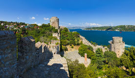 Rumeli Fortress at Istanbul Turkey Royalty Free Stock Images