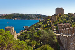 Rumeli Fortress at Istanbul Turkey Royalty Free Stock Image