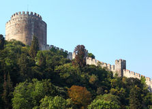 The Rumeli Fortress, Turkey Royalty Free Stock Photos