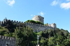 Rumeli Hisar castle, Istanbul, Turkey royalty free stock images