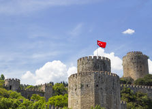Rumeli Hisari (Castle of Europe) by the Bosphorus Strait Stock Photography