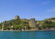 Rumeli Hisari forteca w wiośnie Istanbuł, Turcja zdjęcia stock