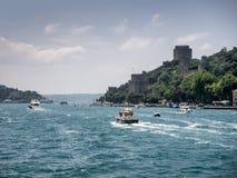 Rumeli Hisari i Istanbul arkivbilder