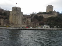 Rumeli kasztelu Istanbul indyk Obrazy Stock