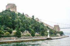 Rumeli roszuje, Kï ¿ ½ cï ¿ ½ ksu pałac na bosphorus, Istanbuł, Turcja Obrazy Royalty Free