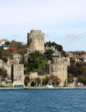 Rumelian Castle on the Bosphorus Strait Royalty Free Stock Images