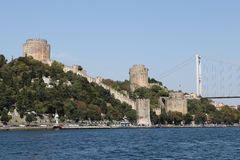 Rumelian Castle in Istanbul City Stock Photography