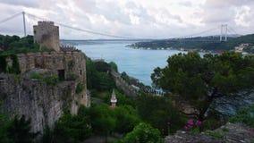 Rumeliankasteel in Istanboel, Turkije stock footage