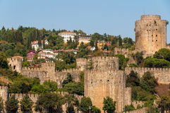 Rumelihisar also known as Rumelian Castle and Roumeli Hissar Ca Royalty Free Stock Images