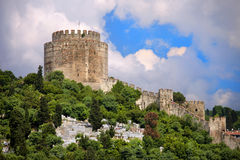 Rumelihisari Castle in Istanbul Stock Photography