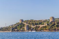 Rumelihisari castle Royalty Free Stock Images