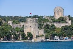 Rumelivesting op de Bosphorus-waterkant, Istanboel, Turkije Royalty-vrije Stock Fotografie