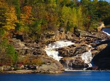 Rumford Falls in Autumn Royalty Free Stock Photography