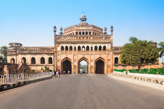 The Rumi Darwaza. (Turkish Gate) in Lucknow, Uttar Pradesh state of India is an imposing gateway. It is an example of Awadhi architecture Royalty Free Stock Images
