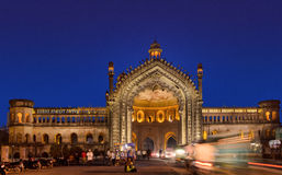 The Rumi Gate. (Darwaza), in Lucknow, Uttar Pradesh, India, is an imposing gateway which was built under the patronage of Nawab Asaf-Ud-dowlah in 1784. It is an royalty free stock photography