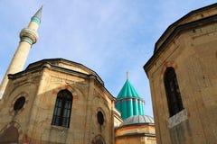Rumi Tomb. Rumi aka Mevlana Tomb and Museum in Konya ,Turkey Royalty Free Stock Photos
