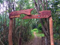 RUMI WILCO TRAIL SIGN Royalty Free Stock Image