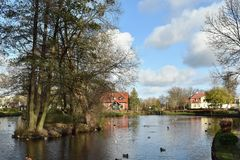 Rumia O parque municipal em Rumia Imagens de Stock