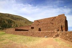 Rumicolca、Wari的考古学站点和印加人在库斯科地区,Quispicanchi省,收益区,秘鲁 库存照片