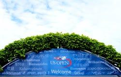 Billie Cajgowego królewiątka tenisa centrum Krajowy powitanie dla us open Zdjęcie Royalty Free