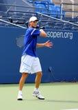 Fachowe gracz w tenisa Andreas Seppi praktyki dla us open Fotografia Royalty Free