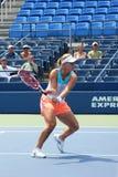 Fachowe gracz w tenisa Angelique Kerber praktyki dla us open zdjęcia royalty free