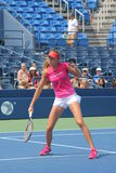 Fachowe gracz w tenisa Daniela Hantuchova praktyki dla us open fotografia royalty free