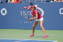 Fachowe gracz w tenisa Daniela Hantuchova praktyki dla us open zdjęcia royalty free