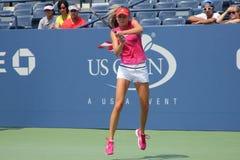 Fachowe gracz w tenisa Daniela Hantuchova praktyki dla us open zdjęcia stock