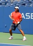 Fachowe gracz w tenisa Fernando Verdasco praktyki dla us open zdjęcie stock
