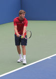 Fachowe gracz w tenisa Ryan Harrison praktyki dla us open zdjęcia stock