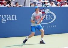Wielkiego Szlema mistrza Andy Murray praktyki dla us open przy przy Billie Cajgowego królewiątka tenisa Krajowym centrum Obraz Stock