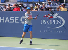 Wielkiego Szlema mistrza Andy Murray praktyki dla us open przy przy Billie Cajgowego królewiątka tenisa Krajowym centrum Fotografia Royalty Free
