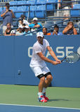 Wielkiego Szlema mistrza Andy Roddick praktyki dla us open przy Billie Cajgowego królewiątka tenisa Krajowym centrum obrazy royalty free