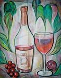 rumieniec wino Zdjęcia Stock