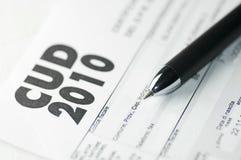 RUMINAGE, déclaration d'impôt italienne photos libres de droits