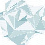 räumliche Bedeckung der Technologie 3d mit gewellten Linien, Hintergrund der OPkunst Stockfoto