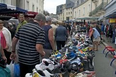 Rummage sale in town Royalty Free Stock Photo