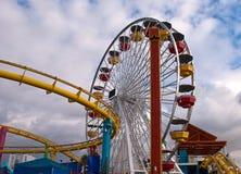 Rummelplatz-Monica-Pier stockbilder