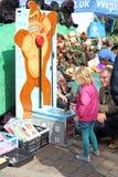 Rummelplatzhammer-Festigkeitsprüfungsspiel Stockbilder