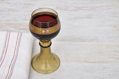 Rummer with red wine Royalty Free Stock Images