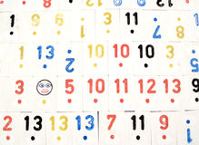 A rummy background...(2). Here is a background with numbers Stock Images